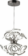 Worldwide W83473MN24 Asimov  Contemporary Matte Nickel LED 24  Pendant Lamp