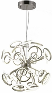 Worldwide W83474MN30 Asimov  Modern Matte Nickel LED 30  Hanging Lamp