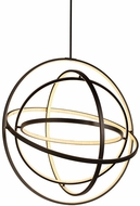 Worldwide W83475MB31 Atom  Contemporary Matte Black LED Hanging Light