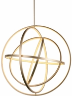 Worldwide W83475MN31 Atom  Modern Matte Nickel LED Pendant Light Fixture
