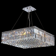Worldwide W83513C24 Cascade Polished Chrome Clear 24  Ceiling Light Pendant