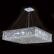 Worldwide W83515C32 Cascade Polished Chrome Clear 32  Drop Ceiling Light Fixture