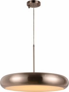 Worldwide W83553BN24 Madison Contemporary Brushed Nickel LED 24  Drop Ceiling Lighting