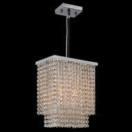Worldwide W83750C10 Prism Polished Chrome Clear Mini Hanging Light Fixture