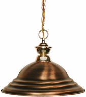 Z-Lite 100701PB-SAC Shark Polished Brass Stepped Antique Copper Hanging Lamp