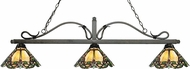Z-Lite 114-3GB-Z14-37 Melrose Golden Bronze Multi Colored Tiffany Kitchen Island Lighting
