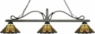 Z-Lite 114-3GB-Z14-46 Melrose Golden Bronze Multi Colored Tiffany Kitchen Island Light