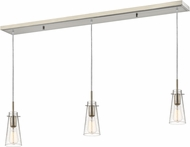 Z-Lite 132MP-3BN Monte Contemporary Brushed Nickel Clear Seedy Multi Hanging Light