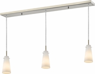 Z-Lite 133MP-3BN Monte Modern Brushed Nickel Matte Opal Multi Hanging Pendant Lighting