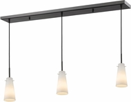 Z-Lite 133MP-3BRZ Monte Contemporary Bronze Matte Opal Multi Hanging Pendant Light