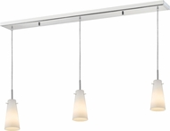 Z-Lite 133MP-3CH Monte Modern Chrome Matte Opal Multi Pendant Hanging Light