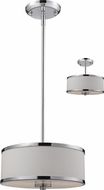 Z-Lite 164-12 Cameo Chrome 53.5  Tall Drum Pendant Hanging Light / Flush Mount
