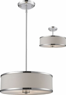 Z-Lite 164-16 Cameo Chrome 15.63  Wide Drum Hanging Light Fixture / Ceiling Light