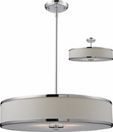 Z-Lite 164-24 Cameo Chrome 23.63  Wide Drum Ceiling Light Pendant / Flush Mount