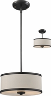 Z-Lite 165-12 Cameo Cr�me/Bronze 11.75  Wide Drum Pendant Lighting / Ceiling Fixture
