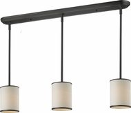 Z-Lite 165-6-3 Cameo Cr�me/Bronze 6  Wide Multi Pendant Lighting Fixture