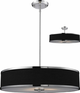 Z-Lite 168-24 Cameo Chrome 23.63  Wide Drum Pendant Lighting Fixture / Ceiling Light