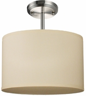 Z-Lite 171-12C-SF Albion Brushed Nickel 12  Tall Overhead Lighting Fixture