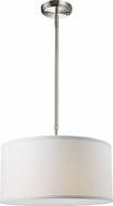 Z-Lite 171-16W-C Albion Brushed Nickel 8  Tall Drum Pendant Light