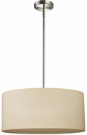 Z-Lite 171-20C-C Albion Brushed Nickel 9  Tall Drum Pendant Lamp