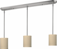 Z-Lite 171-6-3C Albion Brushed Nickel 6  Wide Multi Drop Lighting
