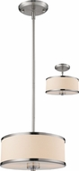 Z-Lite 183-12 Cameo Brushed Nickel 11.75  Wide Drum Hanging Lamp / Flush Mount