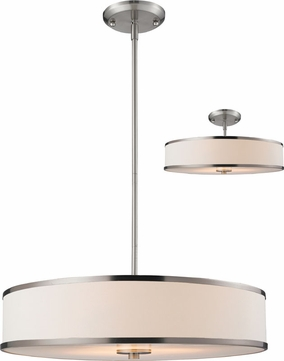 Z-Lite 183-24 Cameo Brushed Nickel 23.63  Wide Drum Pendant Lighting Fixture / Flush Mount
