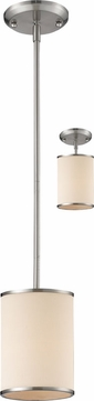 Z-Lite 183-6 Cameo Brushed Nickel 56  Tall Mini Hanging Pendant Lighting / Ceiling Light