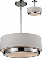 Z-Lite 186-16 Jade Chrome 55  Tall Drum Drop Ceiling Lighting / Ceiling Fixture