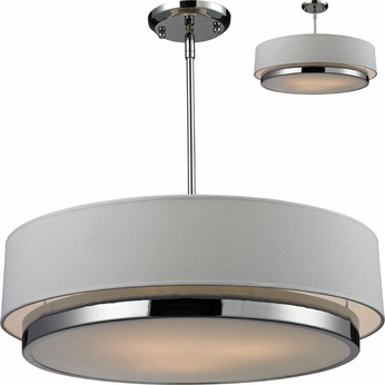 Z-Lite 186-22 Jade Chrome 22  Wide Drum Ceiling Light Pendant / Flush Mount