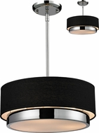 Z-Lite 187-16 Jade Chrome 55  Tall Drum Drop Ceiling Light Fixture / Ceiling Fixture