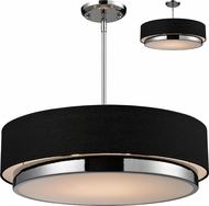 Z-Lite 187-22 Jade Chrome 22  Wide Drum Drop Lighting Fixture / Flush Mount
