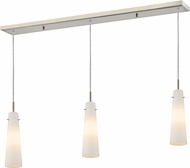 Z-Lite 189MP-3BN Monte Modern Brushed Nickel Matte Opal Multi Drop Ceiling Light Fixture
