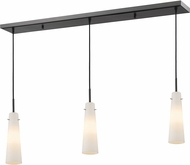 Z-Lite 189MP-3BRZ Monte Contemporary Bronze Matte Opal Multi Drop Lighting Fixture