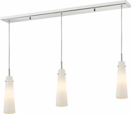 Z-Lite 189MP-3CH Monte Modern Chrome Matte Opal Multi Pendant Lighting