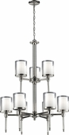 Z-Lite 1908-9 Argenta Chrome 28  Wide Lighting Chandelier