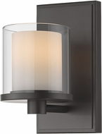 Z-Lite 1918-1S-BRZ-LED Schema Bronze Wall Lamp