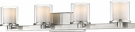 Z-Lite 1918-4V-BN-LED Schema Brushed Nickel 4-Light Vanity Light
