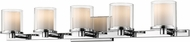 Z-Lite 1918-5V-CH-LED Schema Chrome 5-Light Bathroom Vanity Light