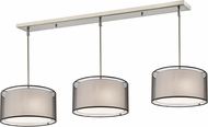 Z-Lite 192-15-3BK Sedona Contemporary Brushed Nickel Black/Super White Multi Pendant Light