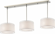 Z-Lite 192-15-3W Sedona Modern Brushed Nickel White/ Super White Multi Lighting Pendant