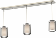 Z-Lite 192-6-3BK Sedona Contemporary Brushed Nickel Black/Super White Multi Pendant Lamp