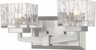 Z-Lite 1927-2V-BN Rubicon Modern Brushed Nickel Halogen 2-Light Bathroom Lighting