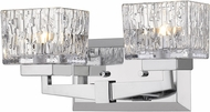 Z-Lite 1927-2V-CH Rubicon Contemporary Chrome Halogen 2-Light Lighting For Bathroom