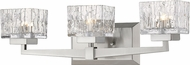 Z-Lite 1927-3V-BN Rubicon Modern Brushed Nickel Halogen 3-Light Bath Lighting