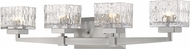 Z-Lite 1927-4V-BN Rubicon Modern Brushed Nickel Halogen 4-Light Bathroom Lighting Fixture