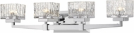 Z-Lite 1927-4V-CH Rubicon Contemporary Chrome Halogen 4-Light Vanity Lighting