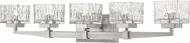 Z-Lite 1927-5V-BN Rubicon Modern Brushed Nickel Halogen 5-Light Vanity Light