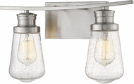 Z-Lite 1928-2V-BN Gaspar Contemporary Brushed Nickel 2-Light Bath Lighting Fixture