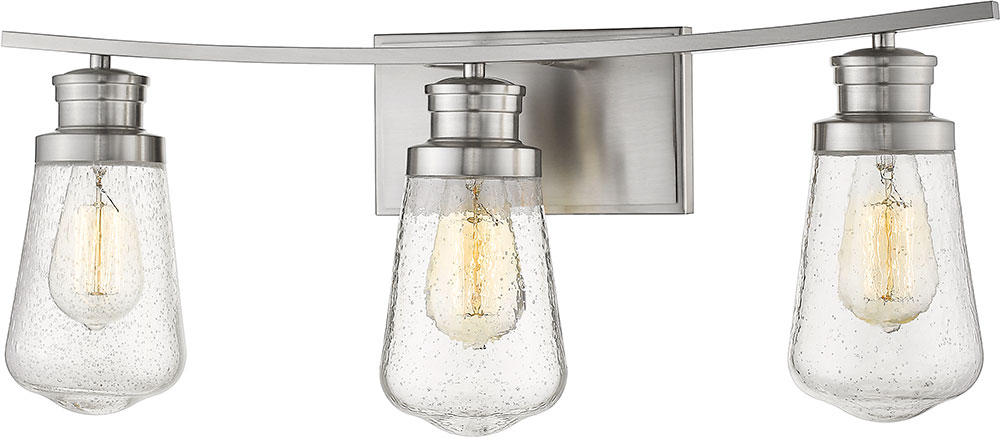 Z Lite 1928 3v Bn Gaspar Modern Brushed Nickel 3 Light Bathroom